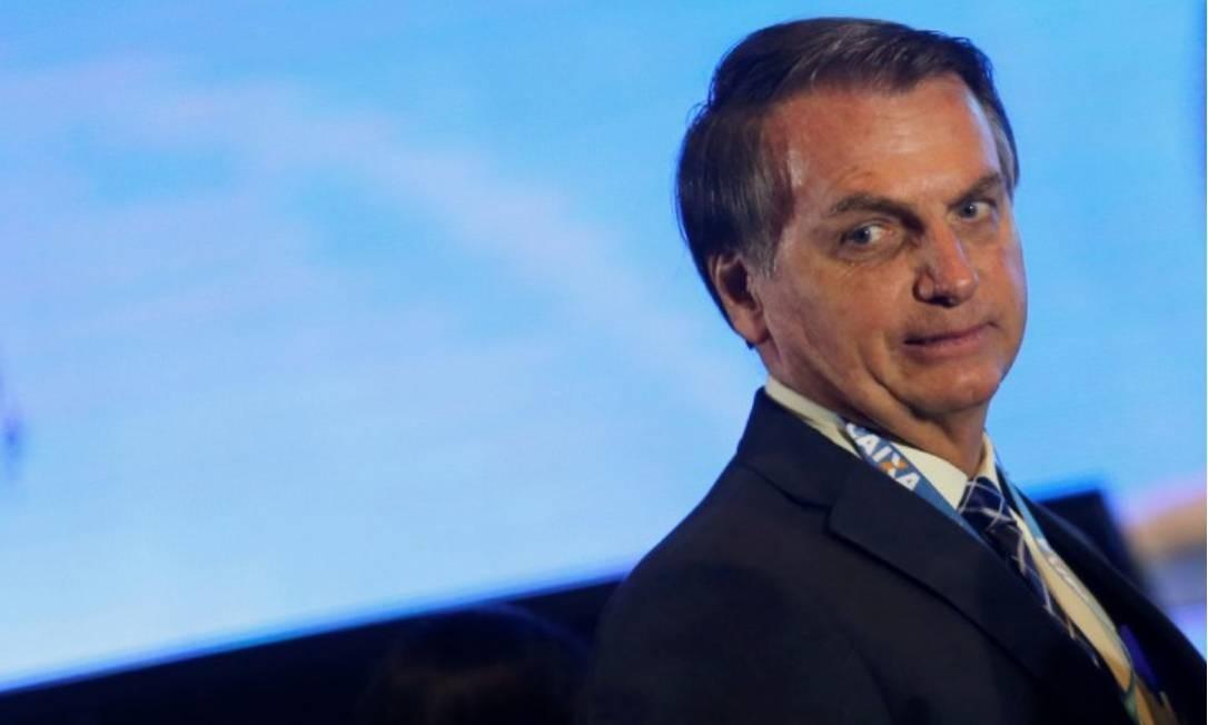 O presidente Jair Bolsonaro em solenidade no Palácio do Planalto Foto: Adriano Machado -Reuters