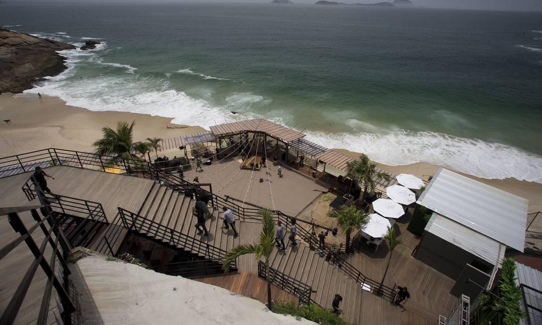 Área de 500 metros quadrados foi licitada para prefeitura. Beach Club tem inauguração prevista para acontecer no réveillon Foto: Márcia Foletto / Agência O Globo