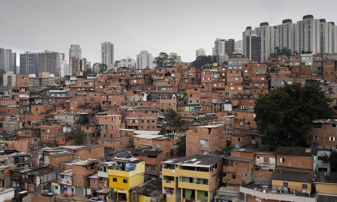 A favela de Paraisópolis, em São Paulo Foto: Edilson Dantas / Agência O Globo