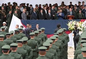 O presidente Jair Bolsonaro em solenidade de diplomação das turmas de formação de sargento em Três Corações (MG) Foto: Marcos Corrêa/PR
