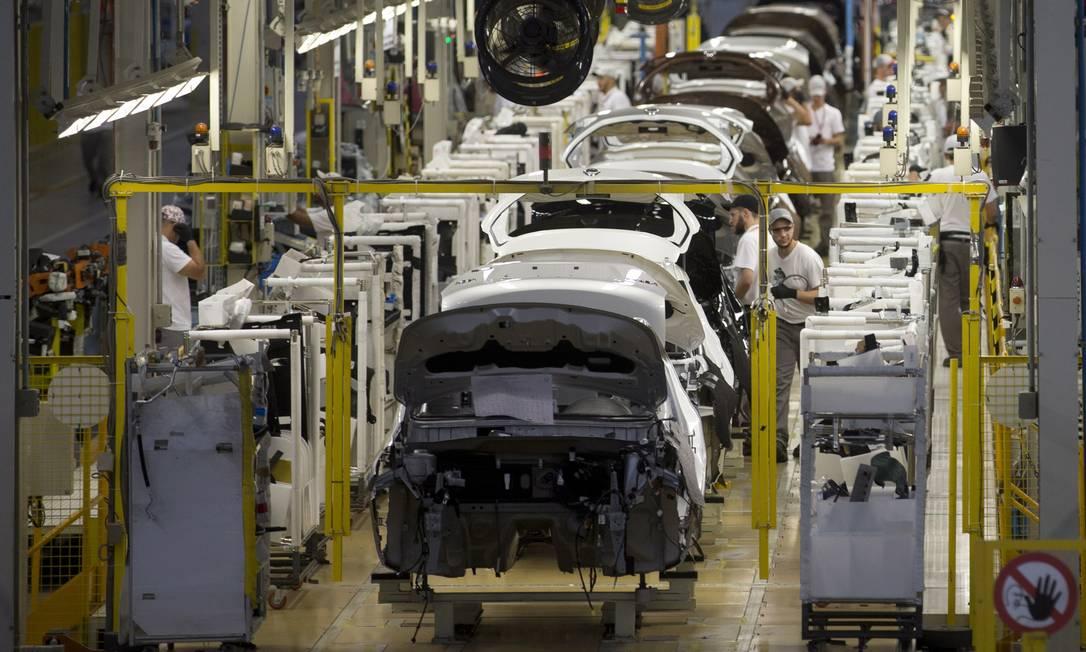 Indústria automobilística em Resende, no Rio de Janeiro: setor teve desempenho fraco em 2019 Foto: Márcia Foletto / Agência O Globo