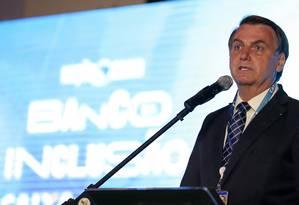 O presidente Jair Bolsonaro em solenidade no Palácio do Planalto Foto: Marcos Correa / Presidência