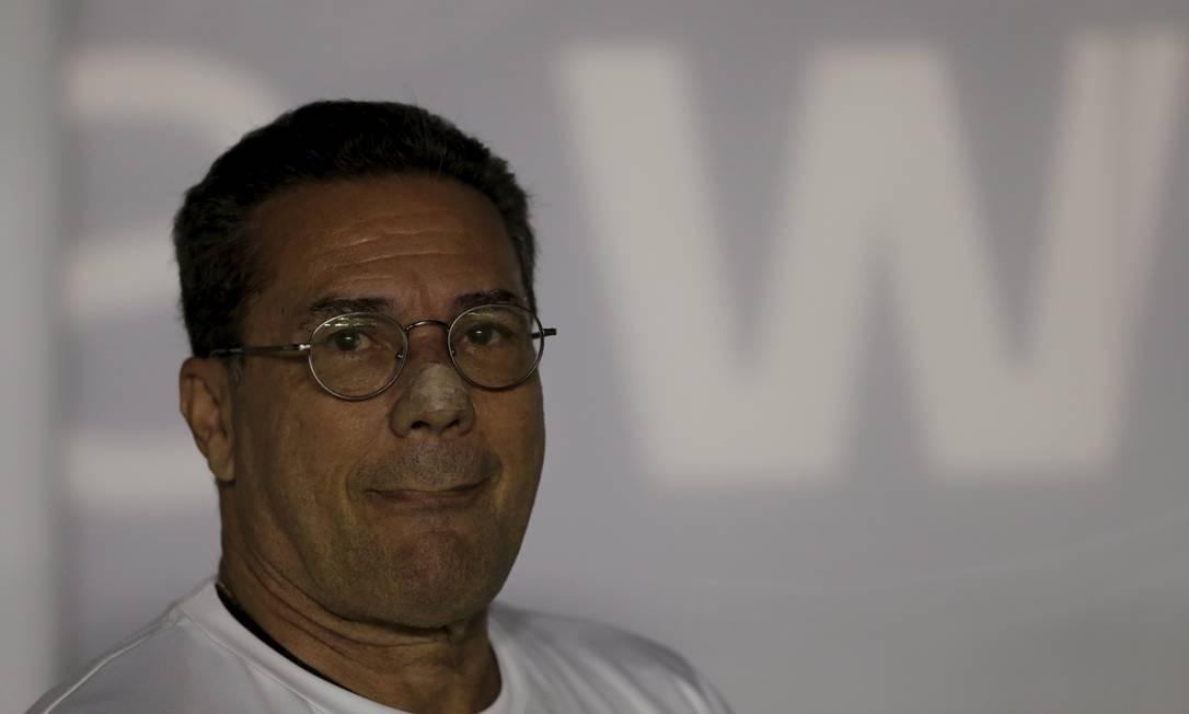 O técnico do Vasco, Vanderlei Luxemburgo, na partida contra o Cruzeiro Foto: MARCELO THEOBALD / MARCELO THEOBALD