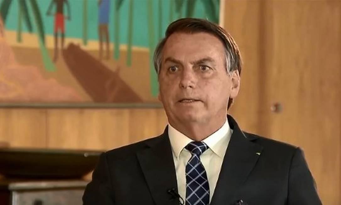 """Jair Bolsonaro em entrevista ao """"Jornal da Record"""" Foto: Reprodução TV"""
