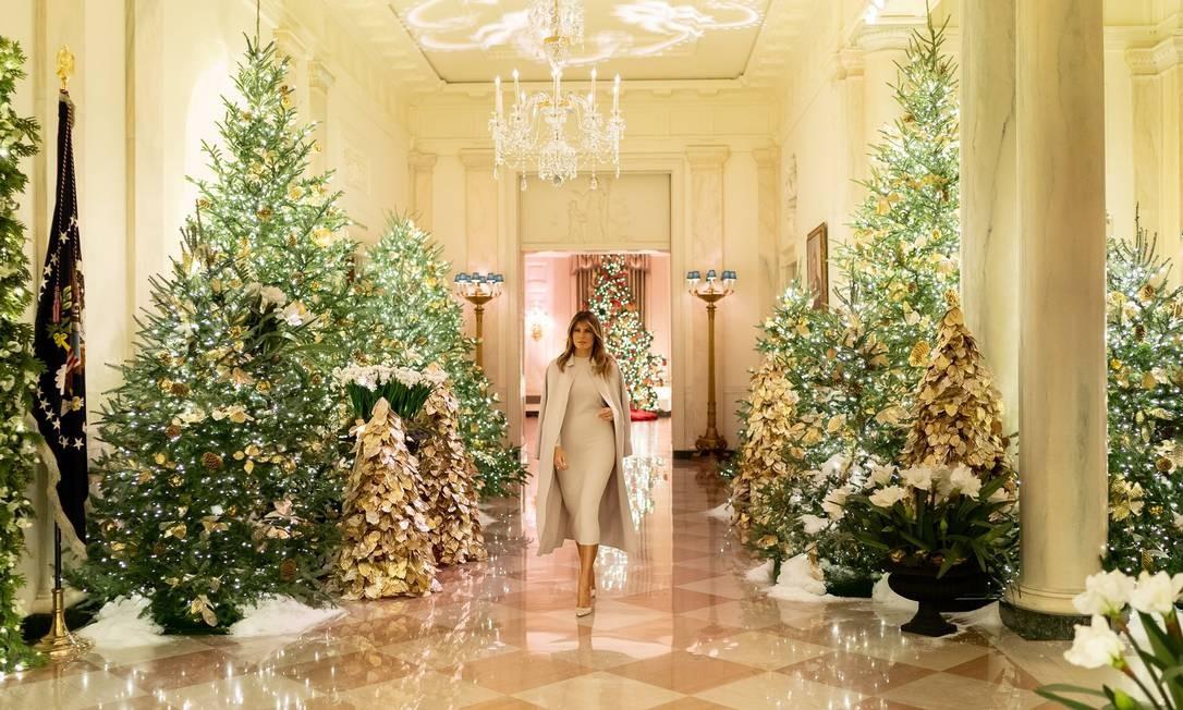 A primeira dama e a decoração de Natal deste ano Foto: Melania Trump/ Twitter