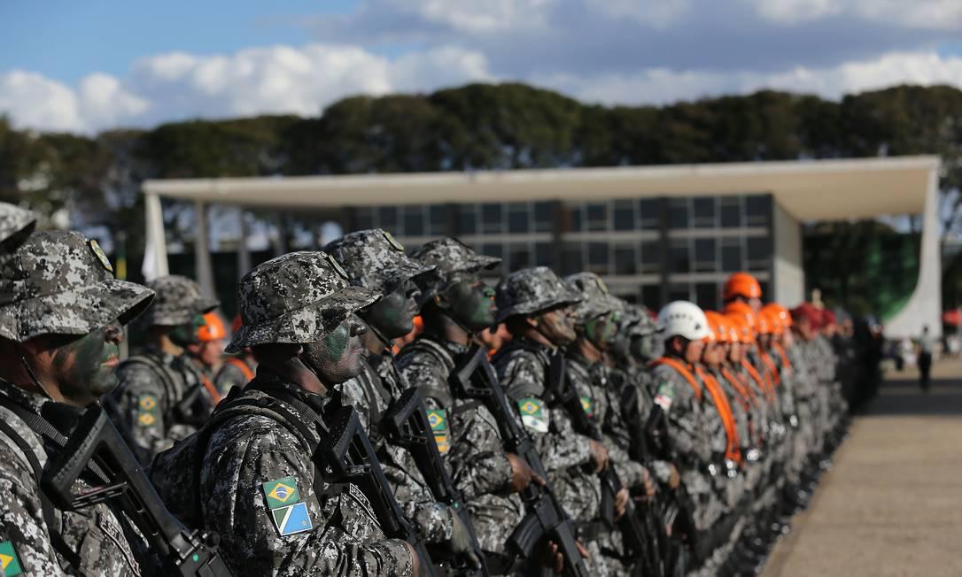 Reforma da previdência de militares deve ser votada pelo plenário do Senado nesta quarta-feira Foto: Jorge William/03-07-2019