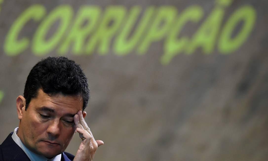 O ministro Sergio Moro (Justiça) em evento no Rio de Janeiro Foto: Carl de Souza / AFP