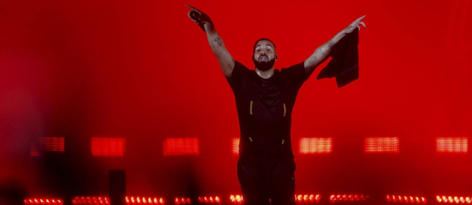 O rapper canadense Drake, em show no Rock in Rio, em setembro Foto: Marcelo Theobald / Agência O Globo