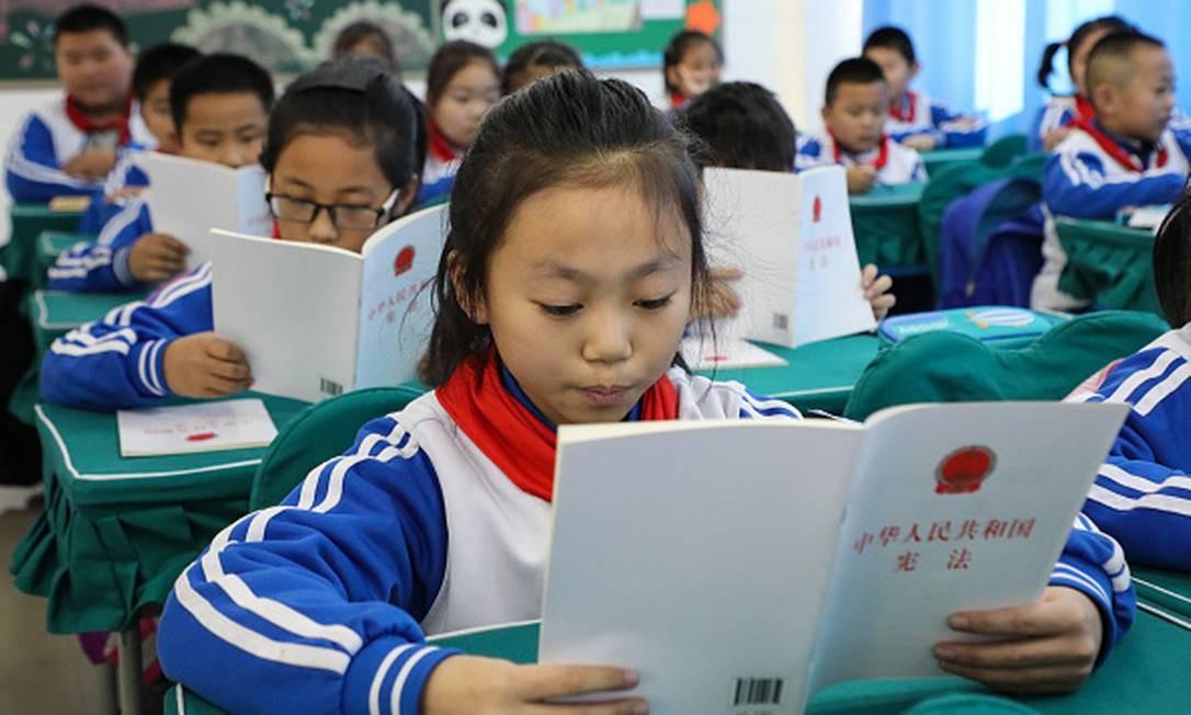 Escola primária na província de Shandong, na China Foto: Getty Images