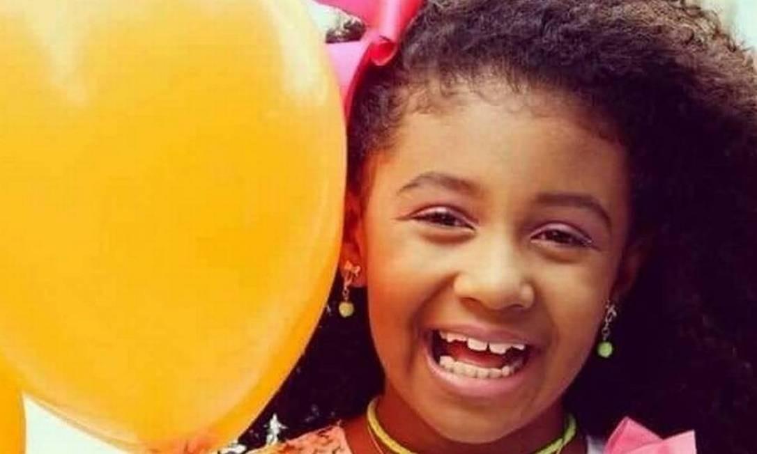 A menina Ágatha Félix, de 8 anos Foto: Reprodução