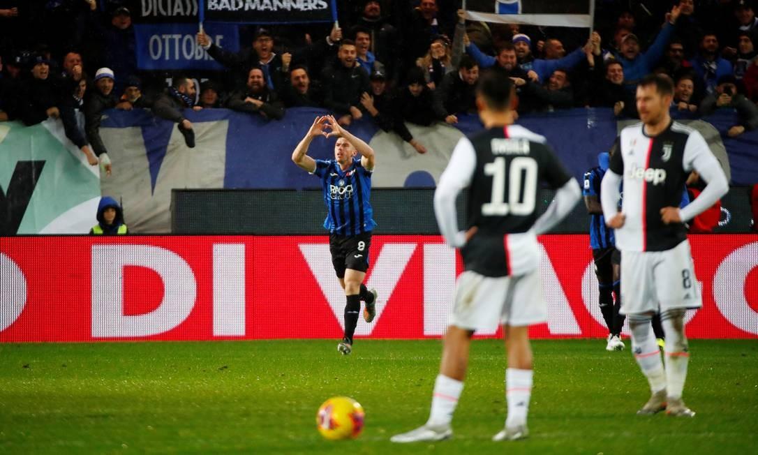 Atalanta e Juventus em ação no Campeonato Italiano Foto: ALESSANDRO GAROFALO / REUTERS