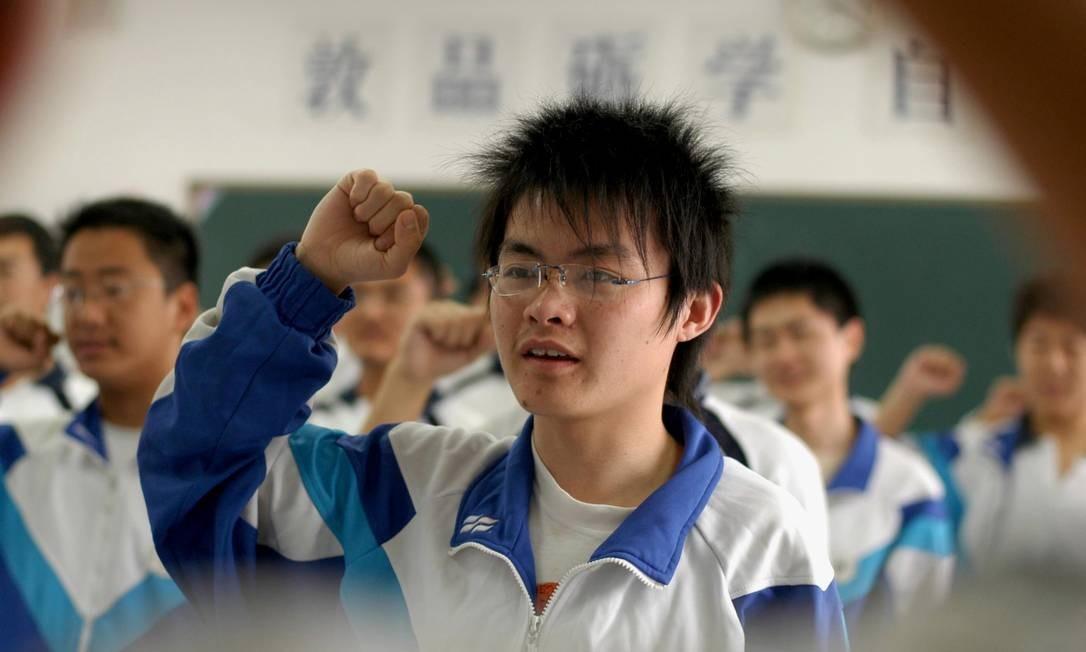 Alunos pobres de províncias chinesa têm desempenho maior que elite brasileira Foto: Xinhua, Lang Congliu/AP