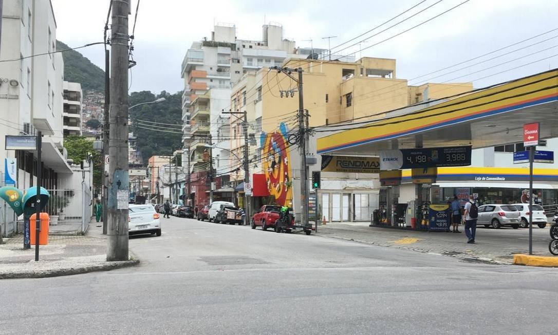 Atropelamento aconteceu na esquina entre as ruas Mena Barreto e a São João Batista Foto: Isabela Aleixo