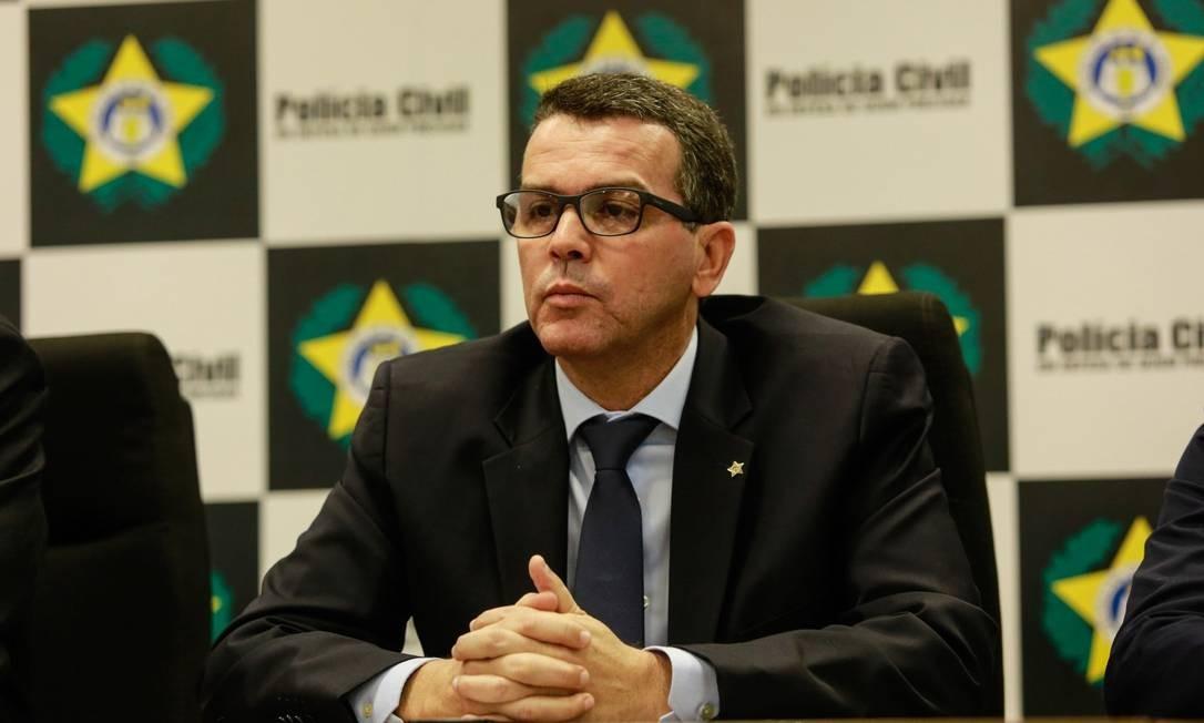 Então chefe da Polícia Civil do Rio, Rivaldo Barbosa, foi denunciado pelo Ministério Público Foto: Brenno Carvalho / Agência O Globo