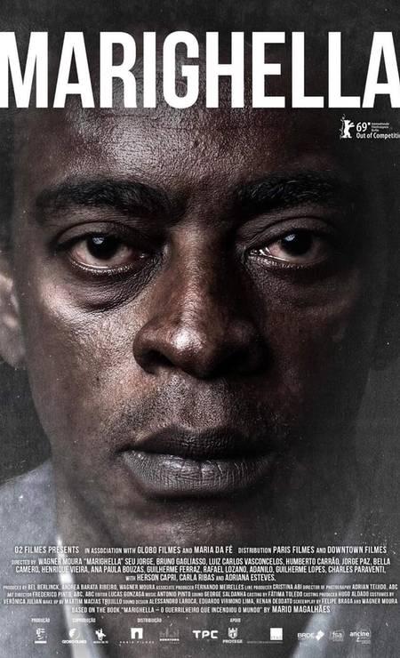 'Marighella' (2019): Estrelado por Seu Jorge, filme de Wagner Moura foi exibido no Festival de Berlim, mas teve estreia cancelada no Brasil Foto: Divulgação