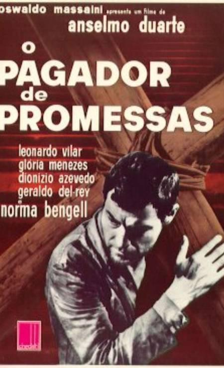 'O pagador de promessas' (1962): Filme de Anselmo Duarte até hoje o único filme brasileiro a conquistar a Palma de Ouro do Festival de Cannes Foto: Divulgação