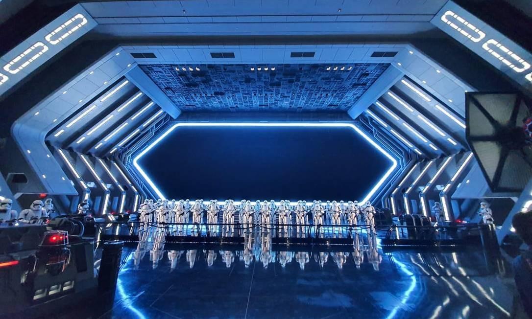 Imagem do novo simulador Star Wars: Rise of the Resistance, novidade da área Star Wars: Galaxy's Edge, no parque Hollywood Studios, na Disney de Orlando Foto: Marcelo Balbio / O Globo