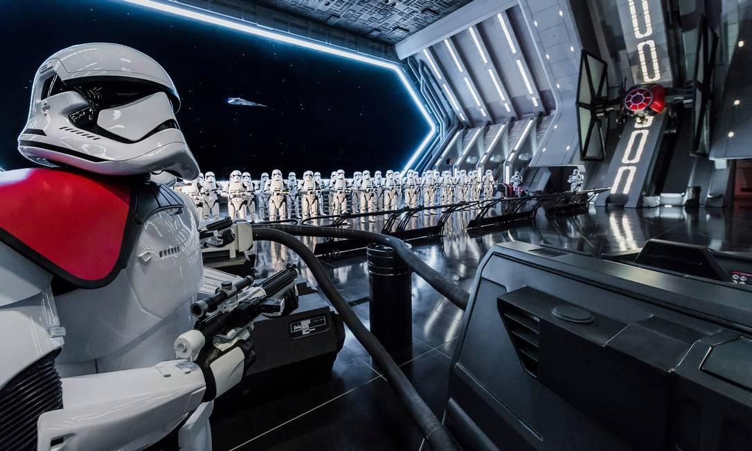 A atração Star Wars: Rise of the Resistance, foi inaugurada primeiro na área Star Wars: Galaxy's Edge da Flórida Foto: Joshua Sudock / Disney Parks