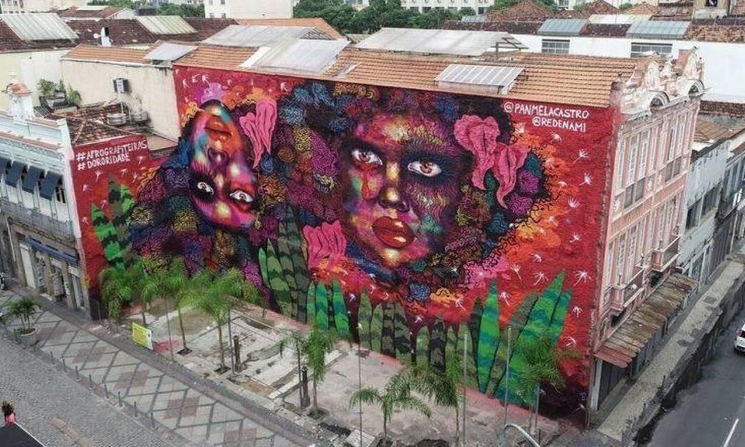 Mural Dororidade no Rio Foto: Arquivo pessoal / Panmela Castro