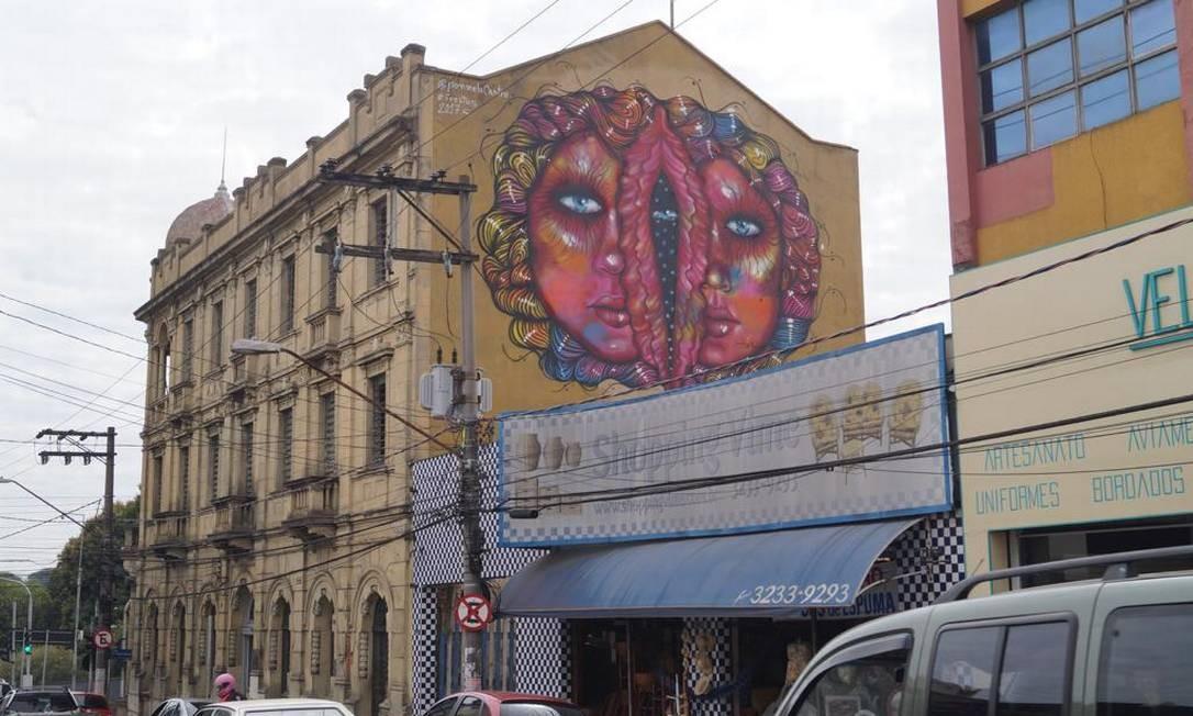 Mural Femme Maison, que foi censurado em Sorocaba Foto: Arquivo pessoal / Panmela Castro