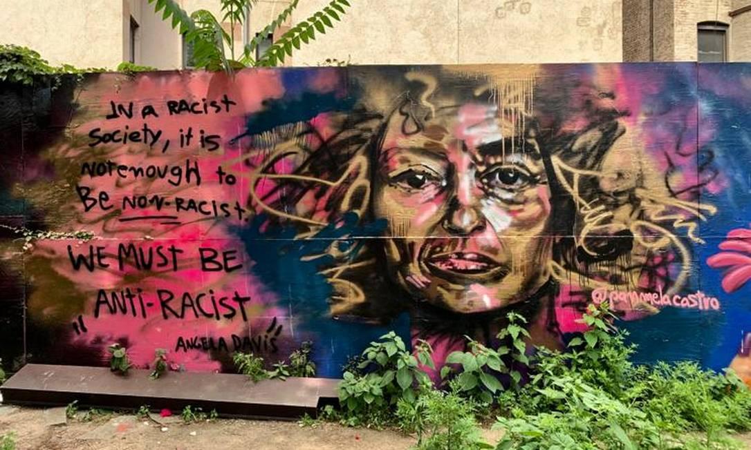 Retrato de Angela Davis em Manhattan Foto: Arquivo pessoal / Panmela Castro