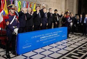 Reunião do Mercosul em Santa Fé, em setembro: Tabaré Vazquez e Mauricio Macri estão de saída. Mudança na Argentina pode influenciar rumos do bloco Foto: Isac Nobrega / Isac Nóbrega/Agência O Globo