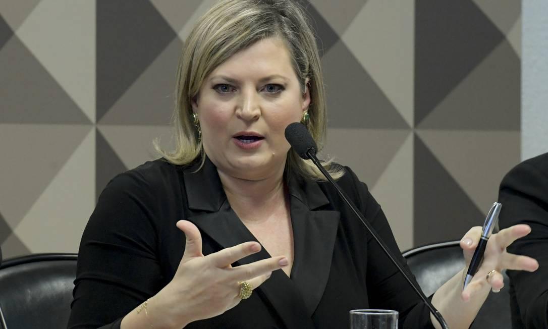 A nova líder do PSL, Joice Hasselmann Foto: Geraldo Magela / Agência Senado