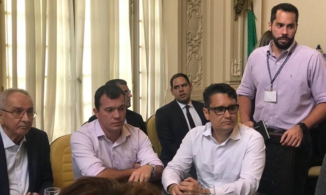Reunião com vereadores analisou repasse à Prefeitura Foto: Divulgação- Vereador Luiz Carlos Ramos Filho