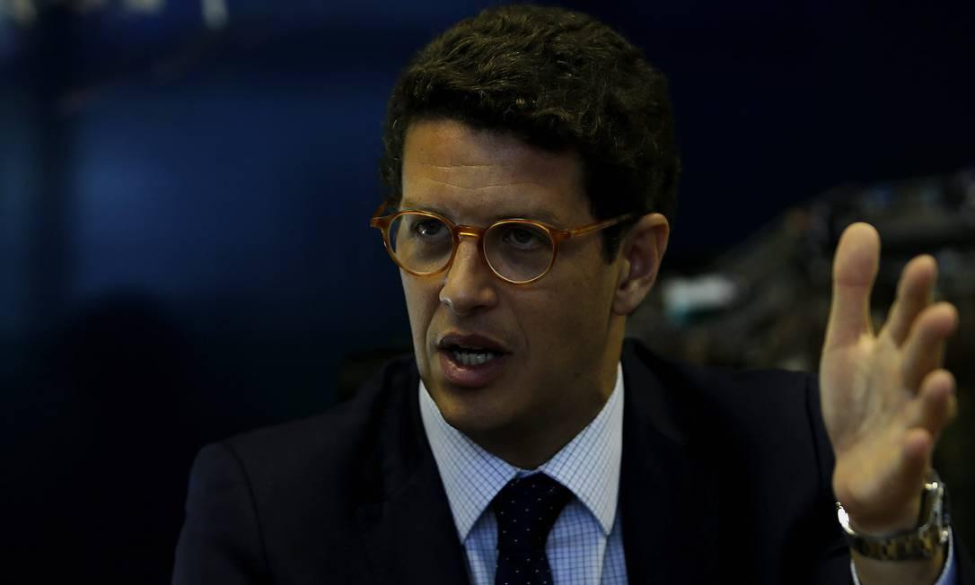 Ricardo Salles: ministro afirma que entidade não pode 'vir ao exterior e falar mal do Brasil no exterior' Foto: Jorge William/27-11-2019