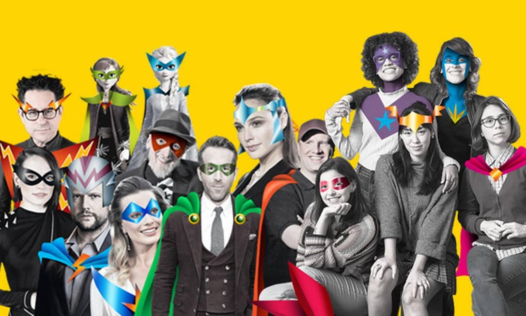 Destaques da programação da Comic Con Experience 2019 Foto: Arte de André Mello com fotos de divulgação