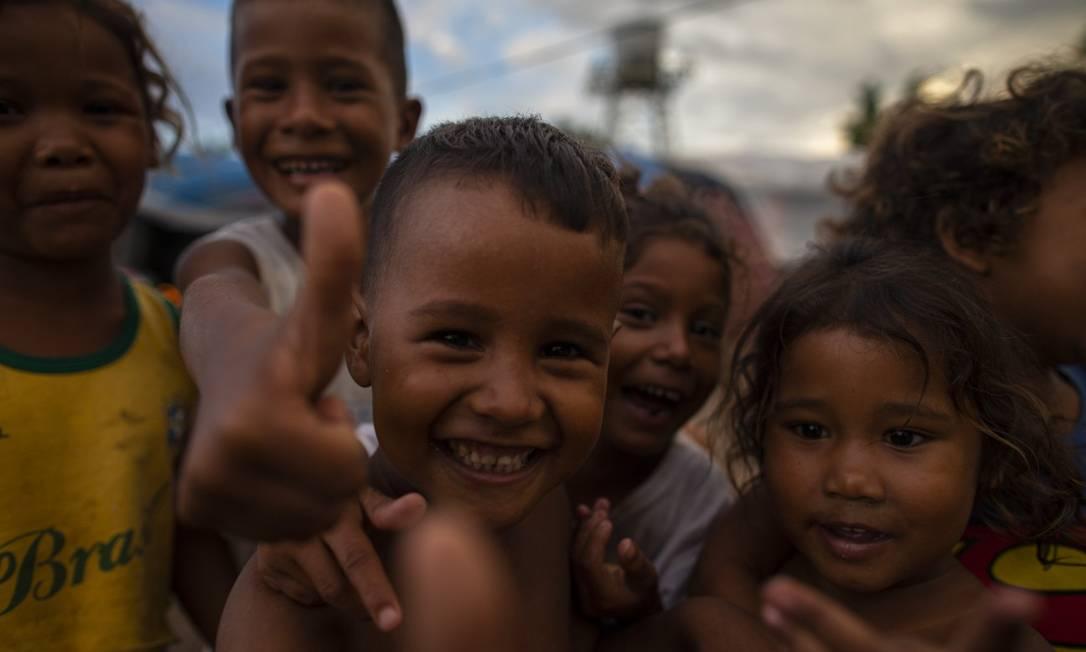 Crianças venezuelanas em Boa Vista, Roraima Foto: Daniel Marenco / Agência O Globo/27-07-2019