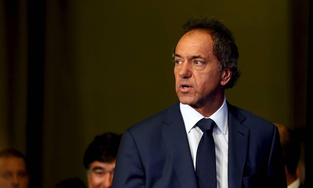 Daniel Scioli, que será o novo embaixador da Argentina no Brasil, foi candidato à Presidência em 2015 Foto: MARCOS BRINDICCI / Reuters/27-10-2015