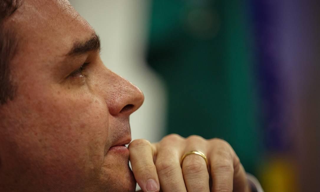O senador Flavio Bolsonaro (sem partido-RJ) 02/07/2019 Foto: Daniel Marenco / Agência O Globo