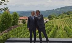 Mauricio Macri e Bolsonaro em Bento Gonçalves. Foto: CARL DE SOUZA / AFP
