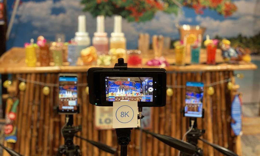 Celulares em teste de 5G exibem imagens de alta definição com nova geração de internet móvel Foto: Divulgação
