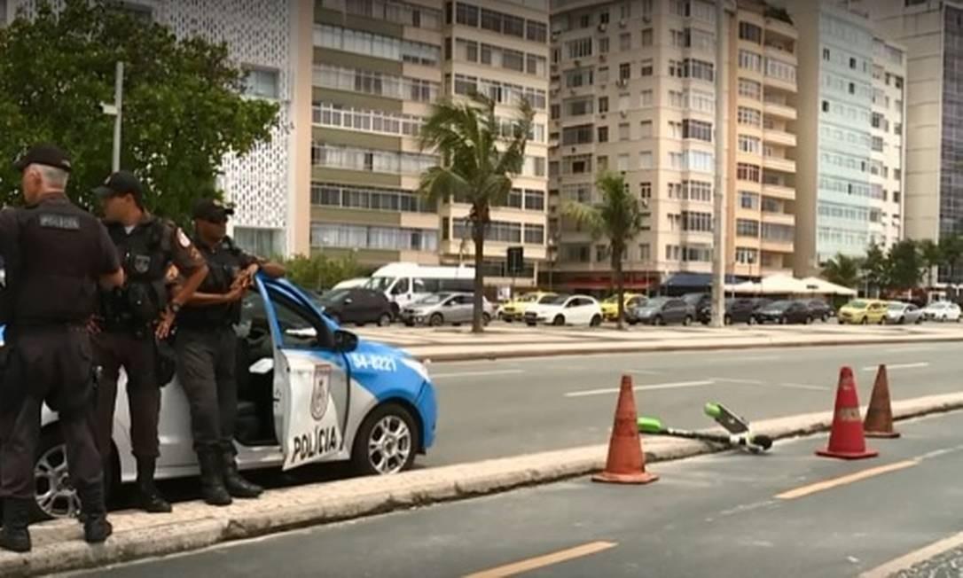 Turista iraniano morre após sofrer acidente em patinete Foto: Reprodução TV Globo