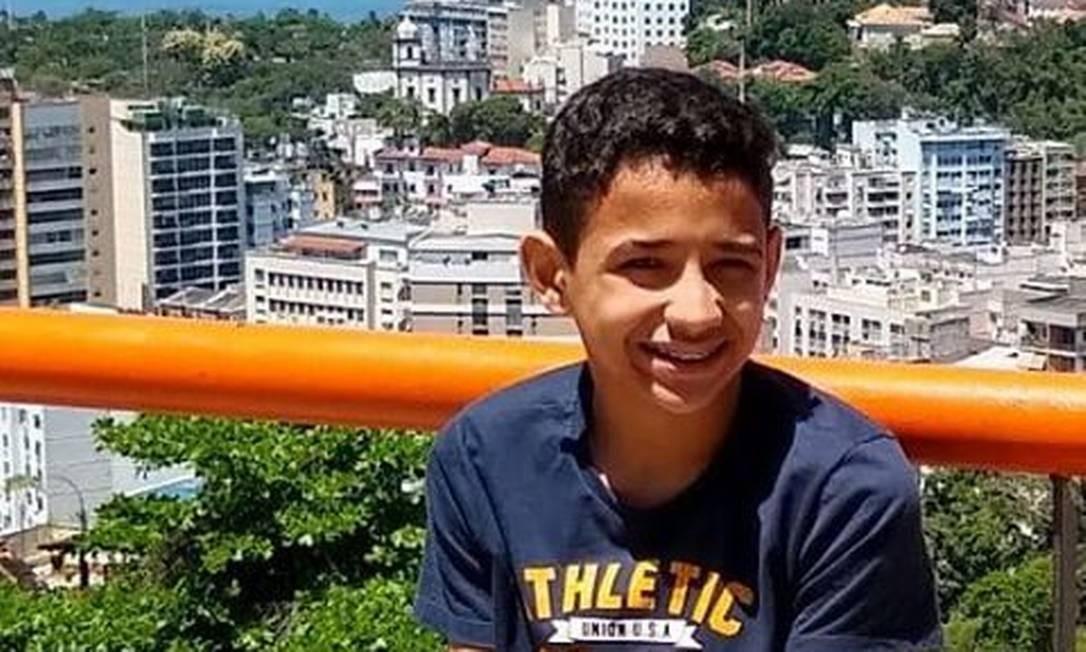 Matheus Rocha Borges, de 13 anos Foto: Reprodução