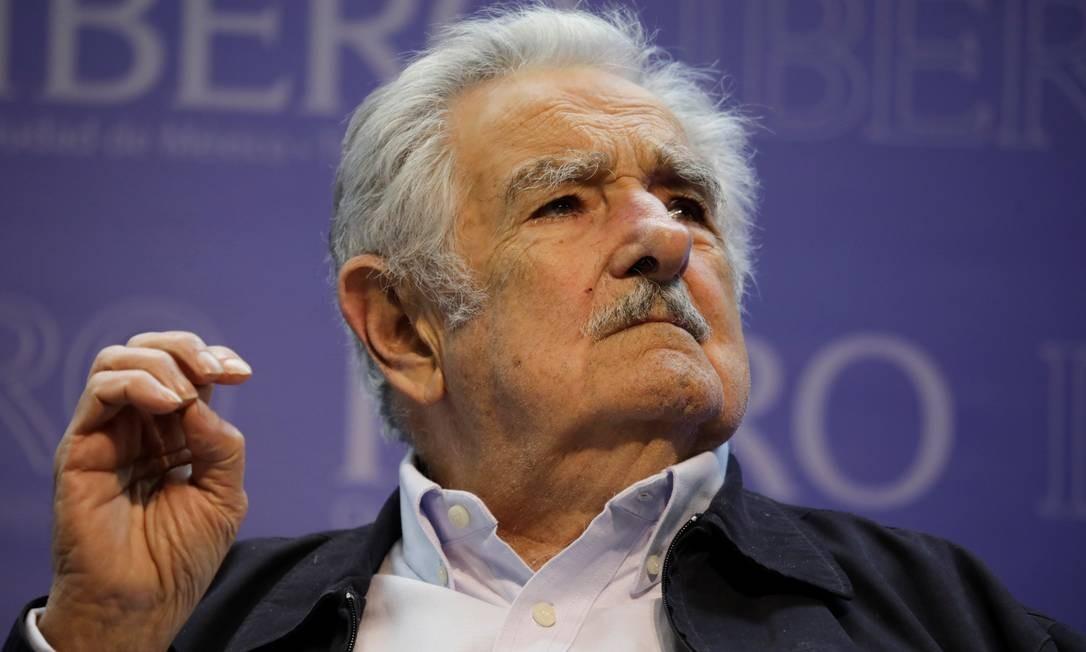 Ex-presidente uruguaio José Mujica durante palestra na Cidade do México Foto: LUIS CORTES / REUTERS