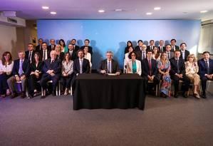 Presidente eleito da Argentina, Alberto Fernández, anuncia seu novo Gabinete ministerial. Posse acontece no dia 10 Foto: Divulgação