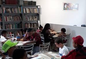 Crianças participaram de contação de histórias na inauguração Foto: Divulgação