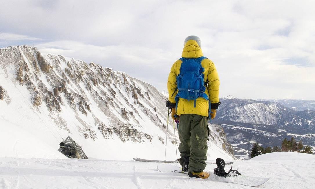 Esquiador na estação de Big Sky, em Montana, nos Estados Unidos Foto: Janie Osborne / The New York Times