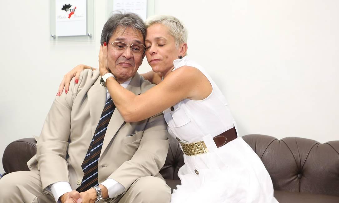 Roberto Jefferson e Cristiane Brasil Foto: André Coelho/Agência O Globo