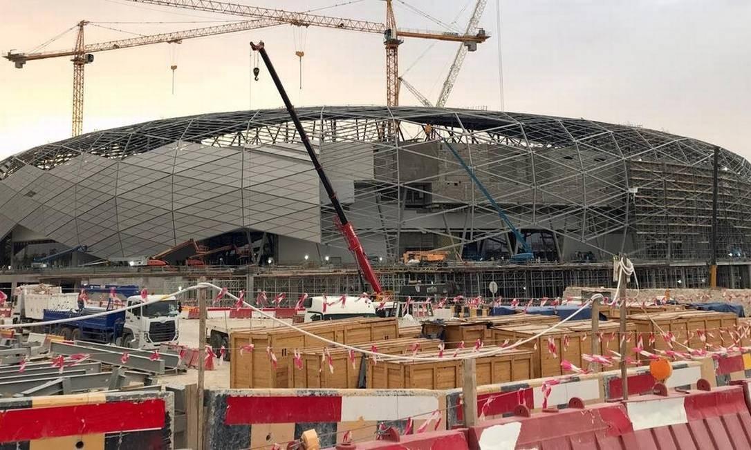 Estádio é situado a 7 quilômetros do centro de Doha e tem capacidade para 40.000 espectadores Foto: Karim Abou Merhi/AFP