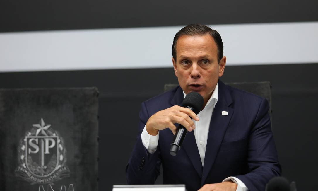 O governador de São Paulo, João Doria Foto: Marcelo Fim/Zimel Press / Agência O Globo