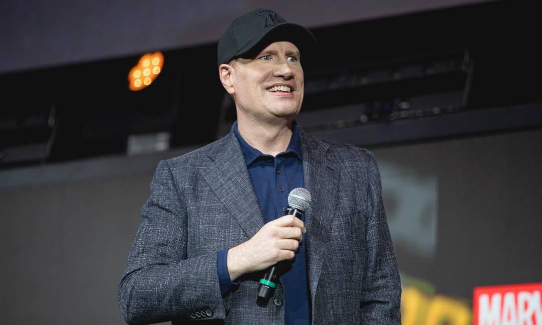 Kevin Feige na CCXP: diretor da Marvel Studios apresentou trechos inéditos de 'Os Eternos' e 'Viúva Negra' Foto: Padilha / Divulgação