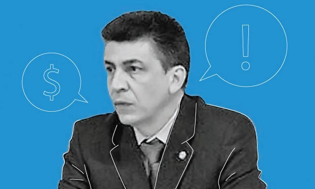 O deputado federal Felício Laterça (PSL-RJ) Foto: Arte O Globo