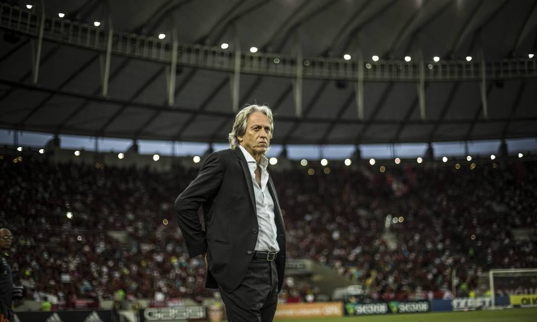 Jorge Jesus, técnico do Flamengo Foto: Guito Moreto / Agência O Globo