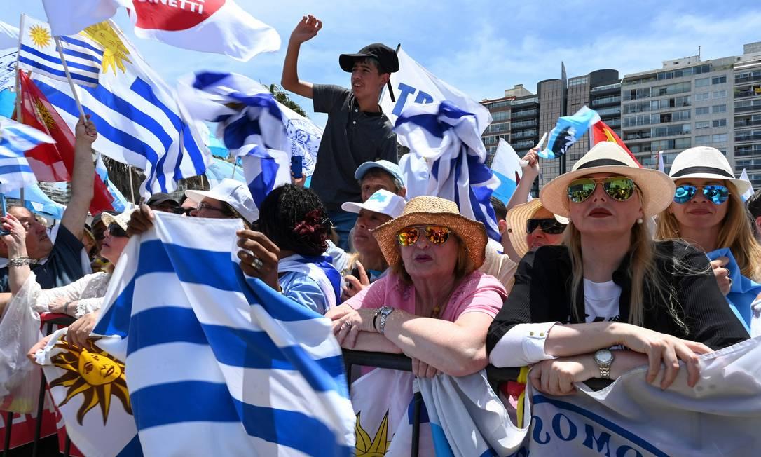Pela civilidade do debate político, o Uruguai parece uma ilha na América do Sul Foto: PABLO PORCIUNCULA BRUNE / AFP