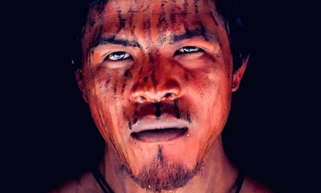 O indígena Paulo Paulino Guajajara, morto em uma emboscada no início de novembro: atentado fez outras duas vítimas fatais da mesma etnia no sábado Foto: Reprodução / Mídia Ninja