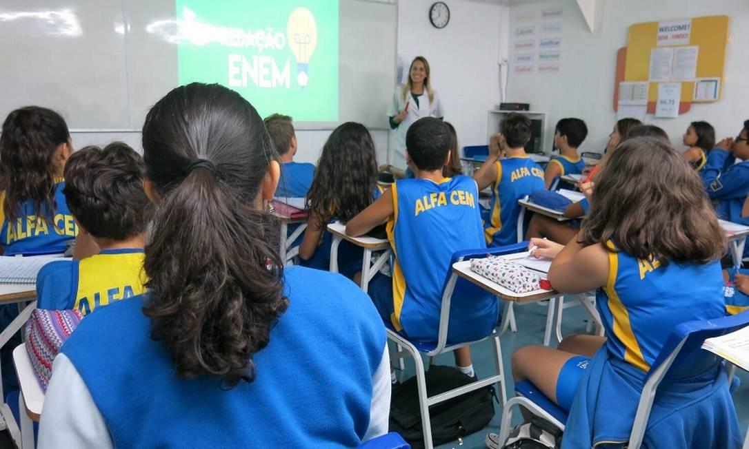 O período esperado para que as pessoas fiquem na escola está parado em 15,4 anos desde 2016. Foto: Grace Marinho / Agência O Globo